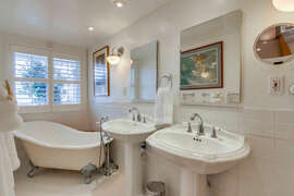 You will love the stand alone bath tub.