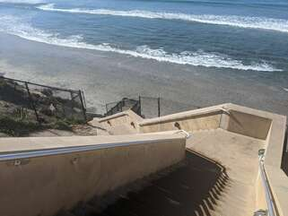 Stairs down at Stone Steps Beach Access