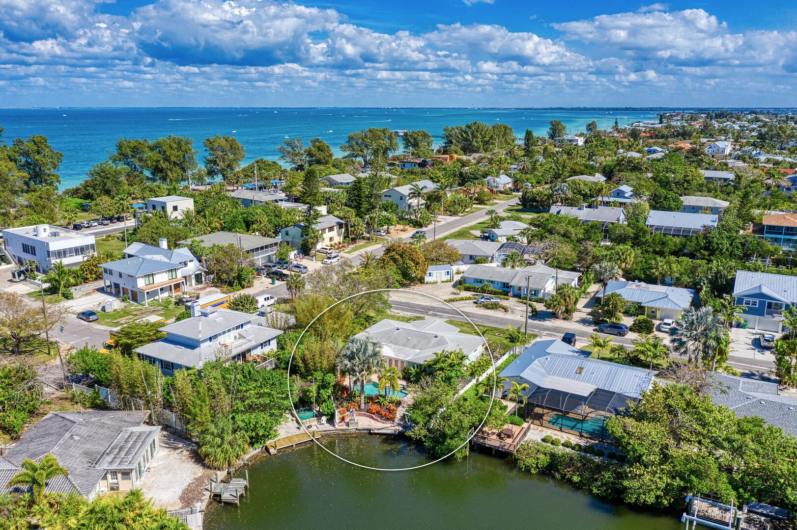 aerial view from the North of Mermaids & Manatees