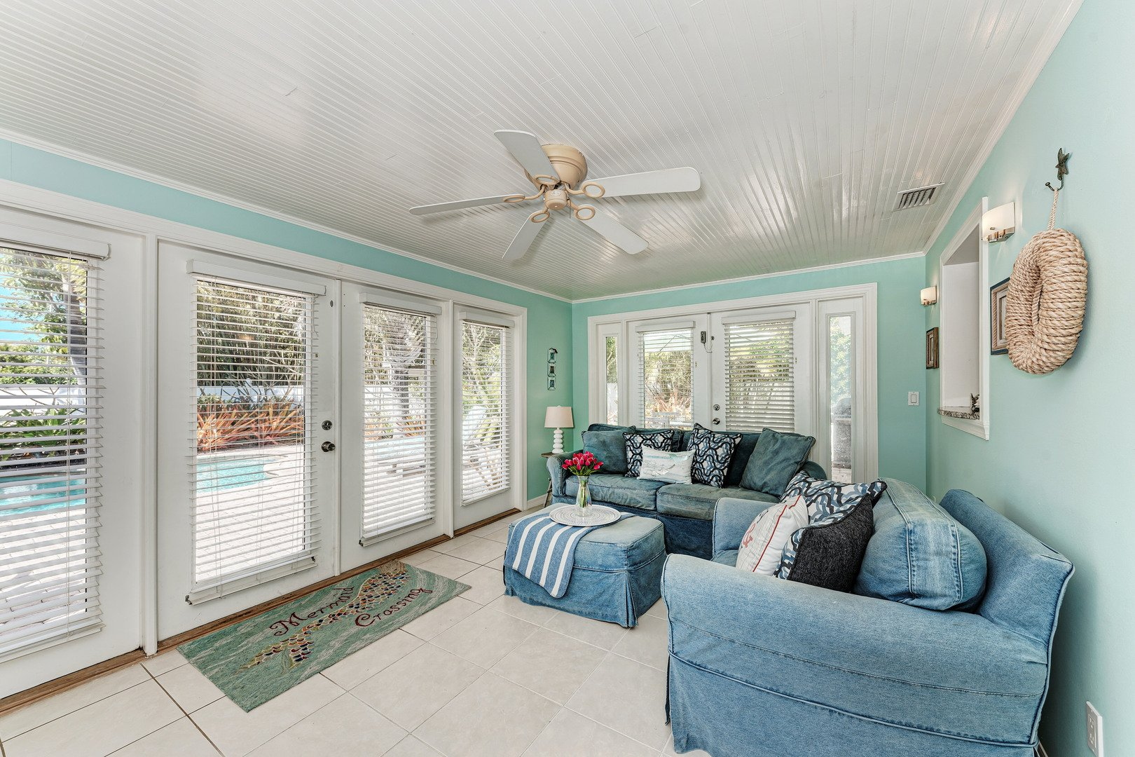 Mermaids & Manatees family room off the kitchen