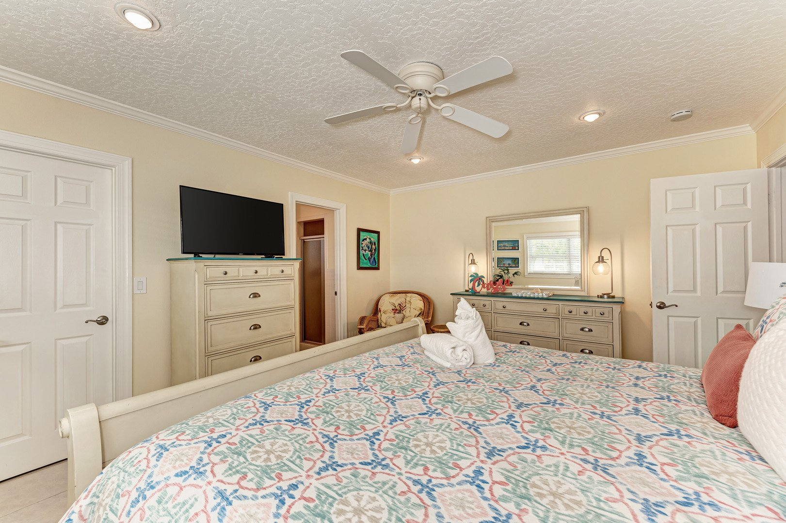 Mermaids & Manatees master bedroom alternate view