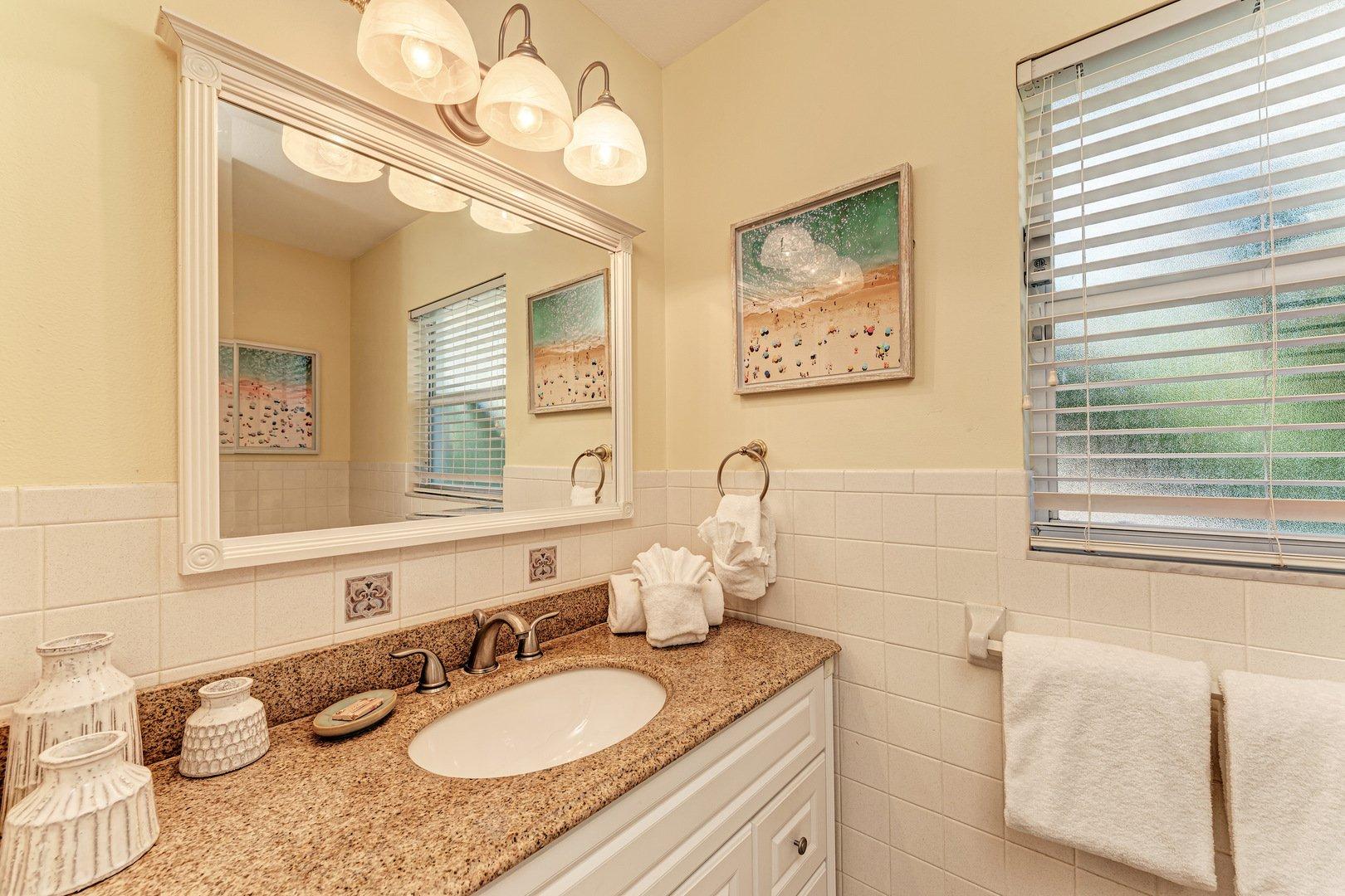 Mermaids & Manatees master bathroom vanity