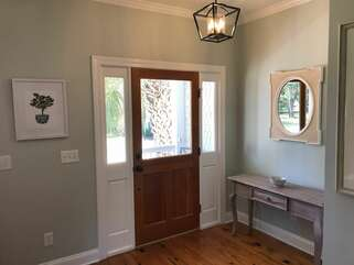 This newly decorated home features heart of pine flooring throughout the first floor.