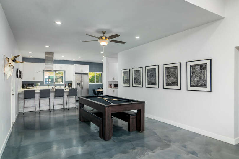 Dining and game table.