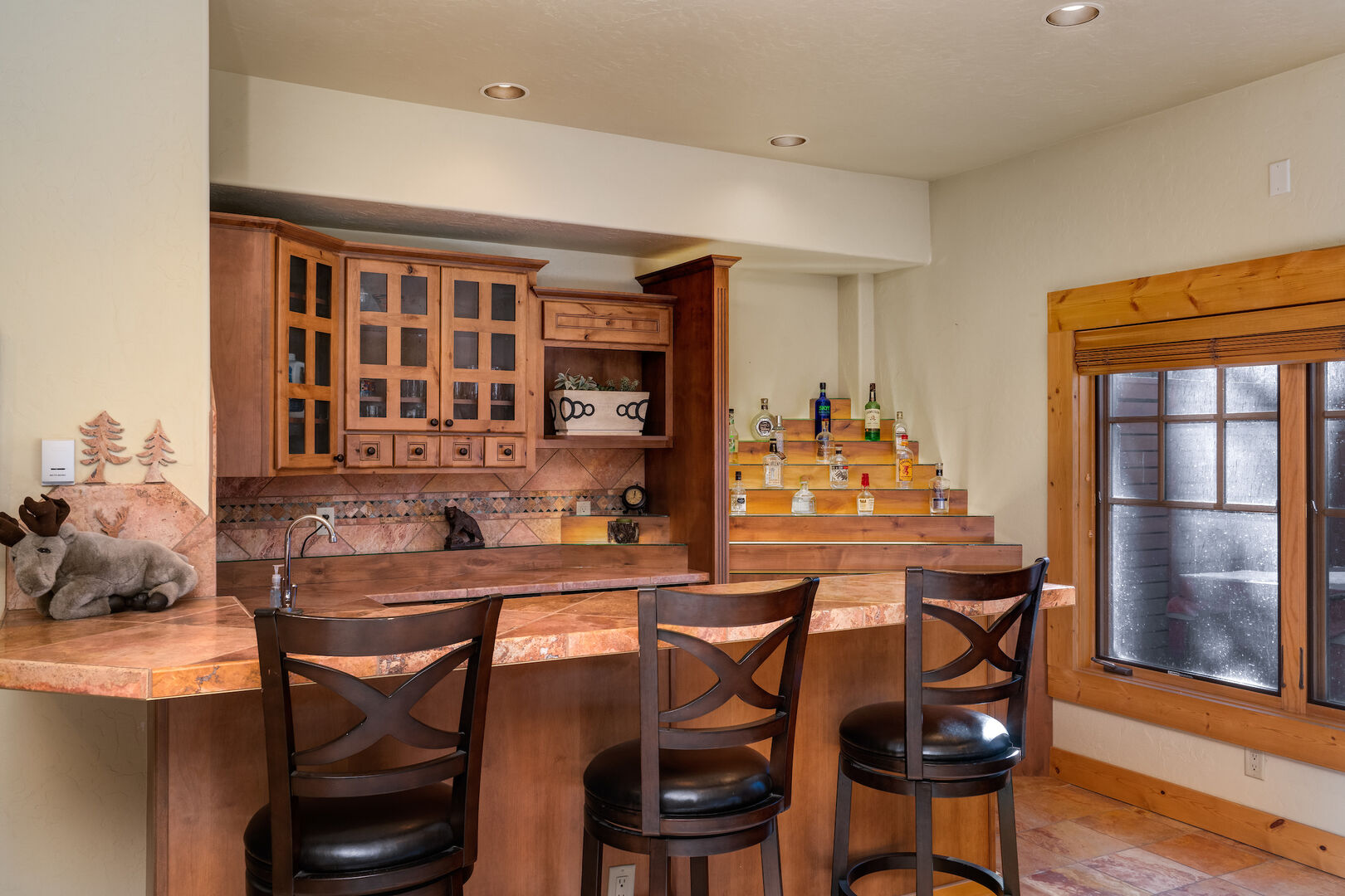Full bar in the game room