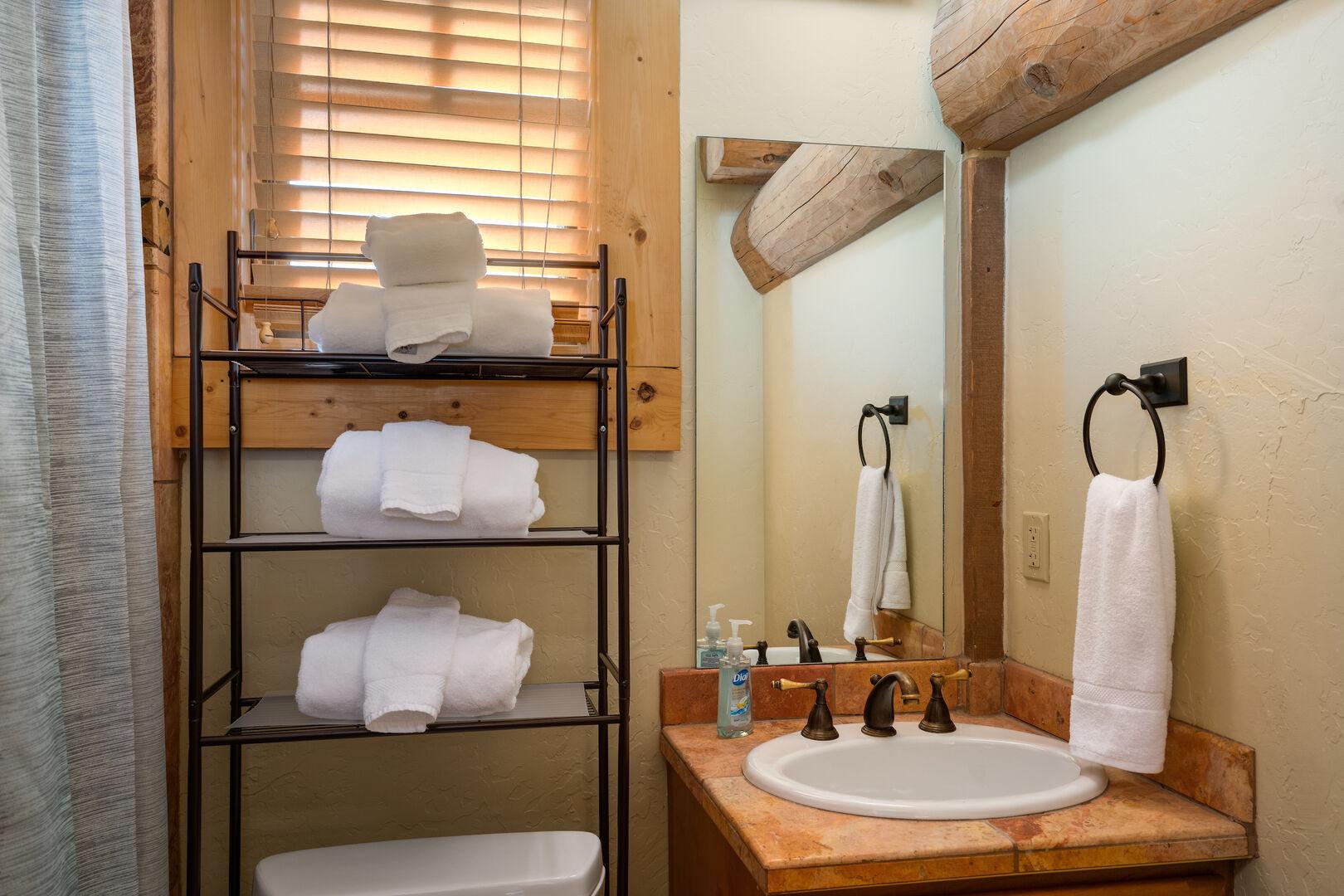 Upper level queen bedroom ensuite bathroom