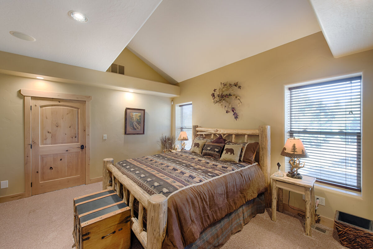 Main level Master Suite with King bed and twin trundle.