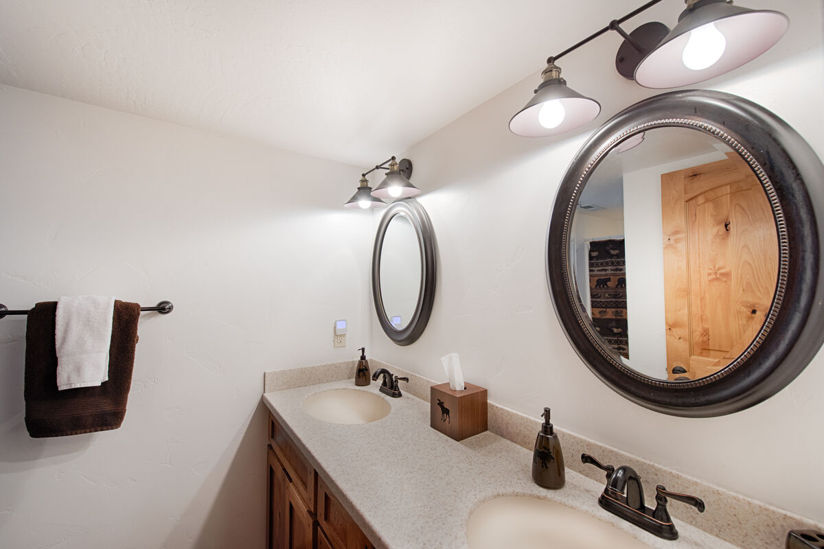 Lower level guest bathroom.