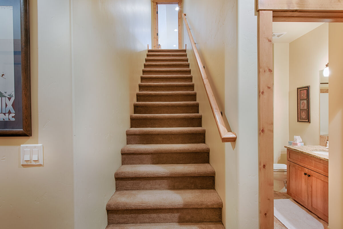 Stairwell to second level.