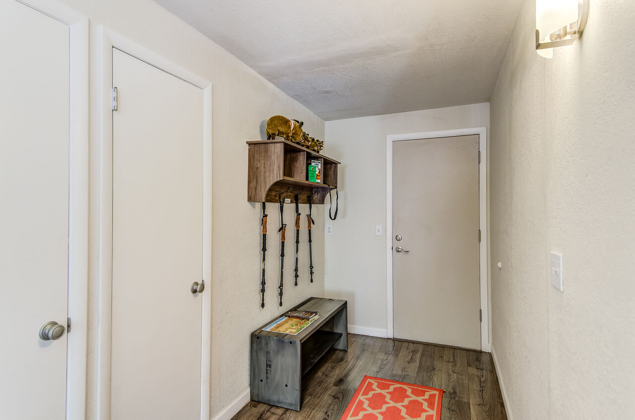 Front Entryway with Bench, Coat Rack and Cubbies