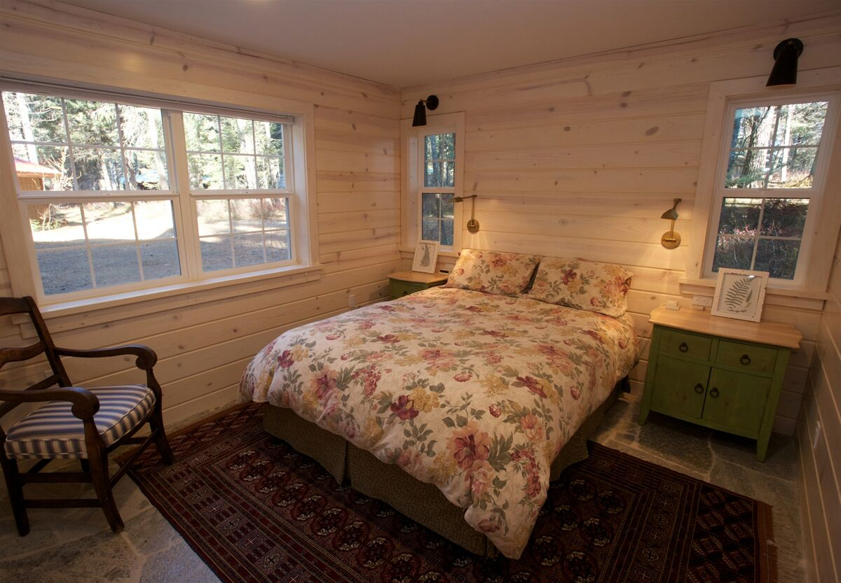 Downstairs guestroom two also has a queen bed
