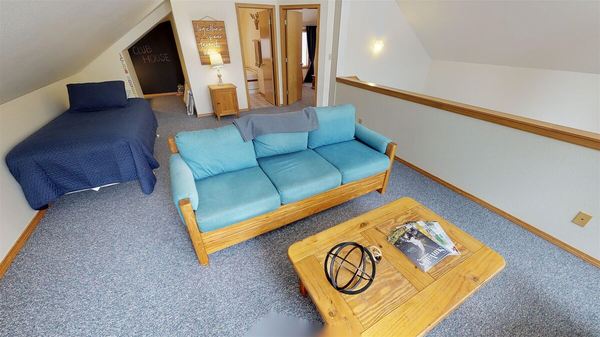 Access the clubhouse, bathroom, and 2nd bedroom from loft.