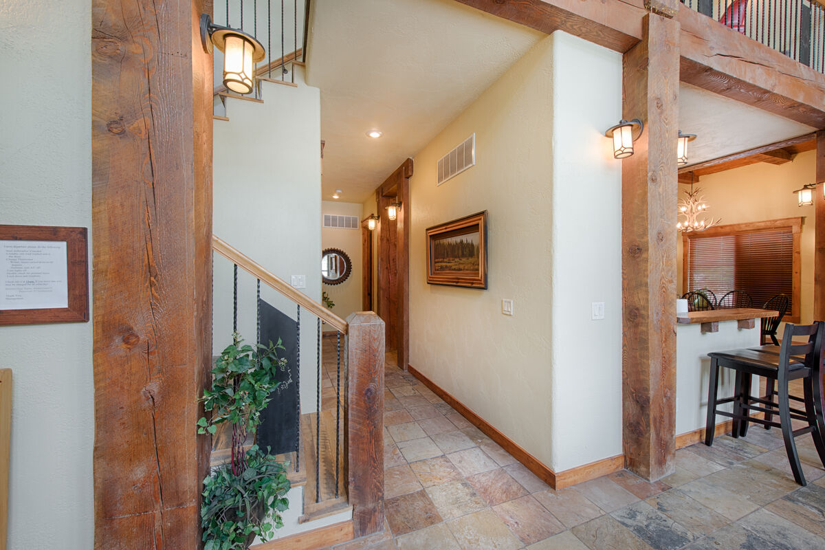 Hall way to utility room and Master Suite.