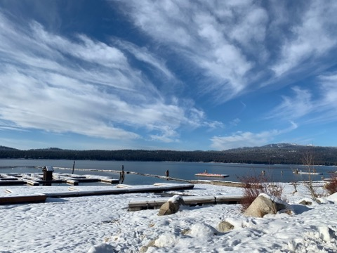 Just across the street from Payette lake Winter.