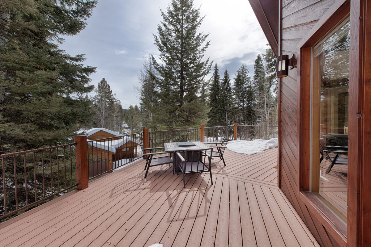 Kitchen access to deck with gas grill.  Dine al fresco.