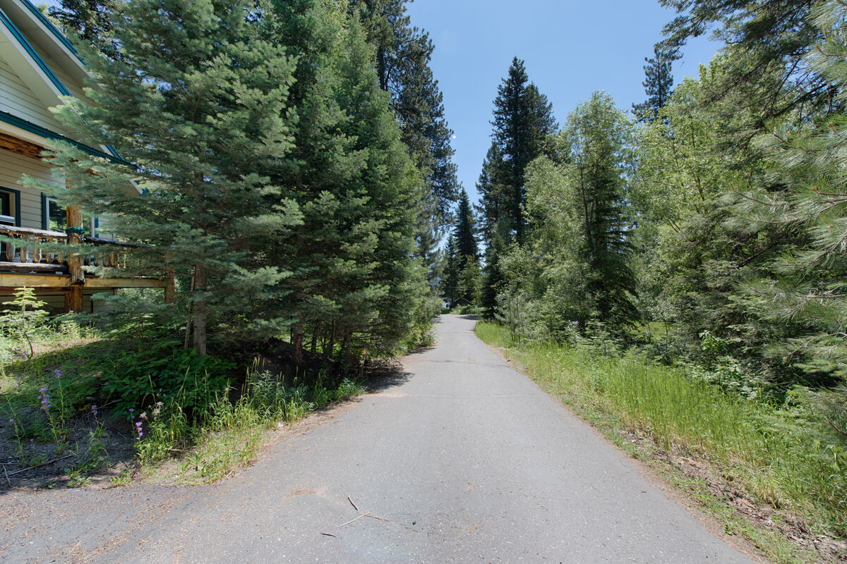 Just walk down the street and discover forested access to the lake path.
