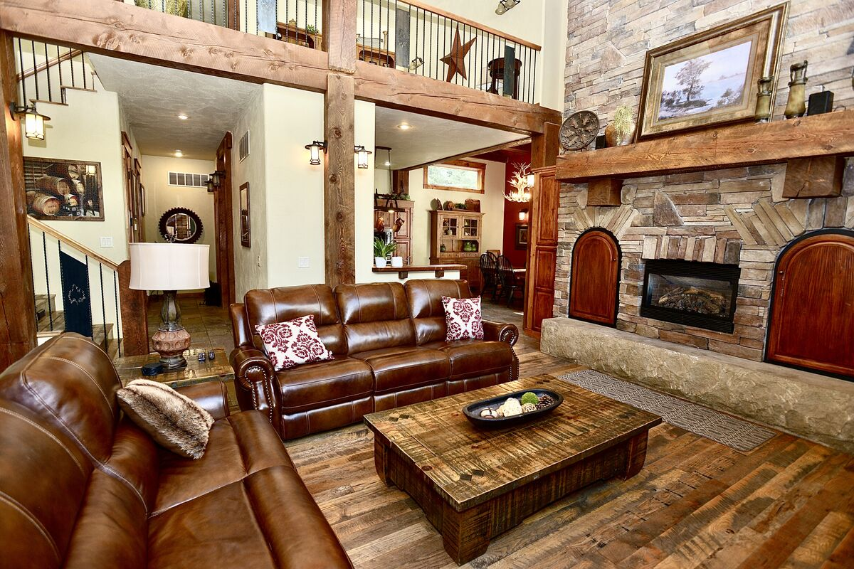 gather in the comfortable and spacious living room