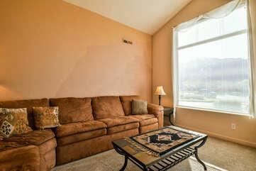 Large Sectional Sofa at Moab Rental