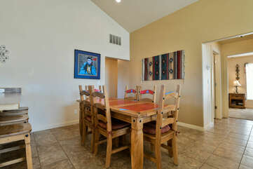 Dining area with Southwest Vibes