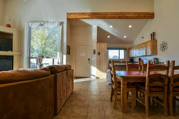 Kitchen, Dining, and Living room at Moab Rental