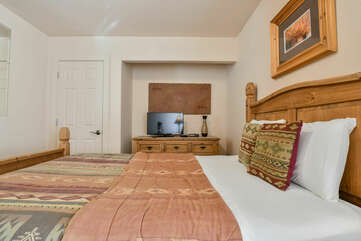 Second with Wooden Bed Frame at Moab Rental
