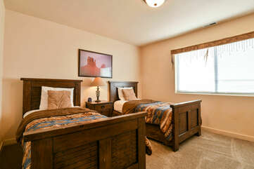 Third Bedroom with two Twins at Moab Rental