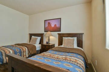 Two Twin beds at Moab Rental