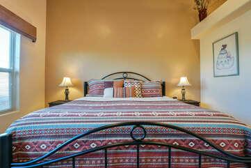 Master bedroom at Moab Rental