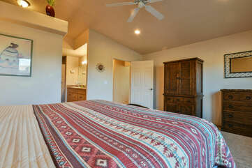 Southwestern Blanket and Wooden Dressers