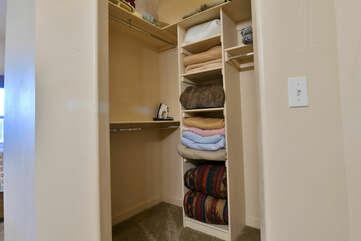 Master Bathroom Closet and extra Linens