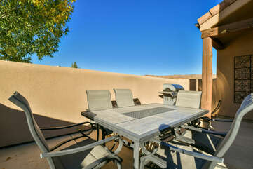 Outdoor Seating on the Patio of Moab Rental
