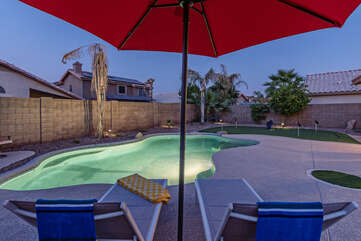 A heated pool means year round swimming on sunny days is an option.