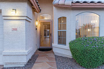 Private entrance welcomes you to our newly listed, attractive and comfortable home.