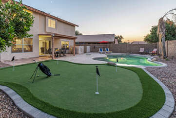 We're betting the putting green and pool will be your favorite amenities.