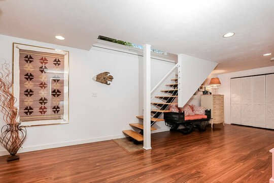Stairs from Main Level to lower level bedrooms - 10 Cranberry Hollow Harwich-Cape Cod- New England Vacation Rentals