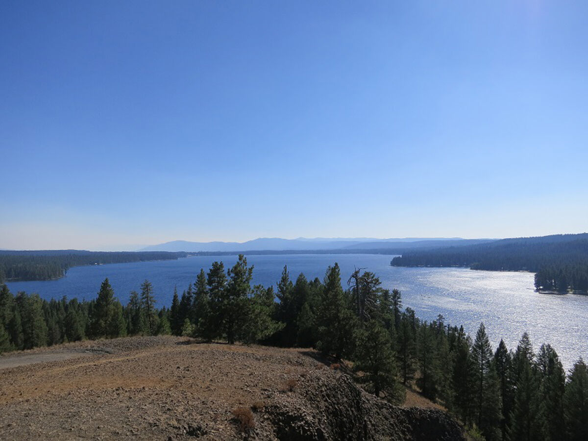 Lovely Payette Lake form Ponderosa Park vista.