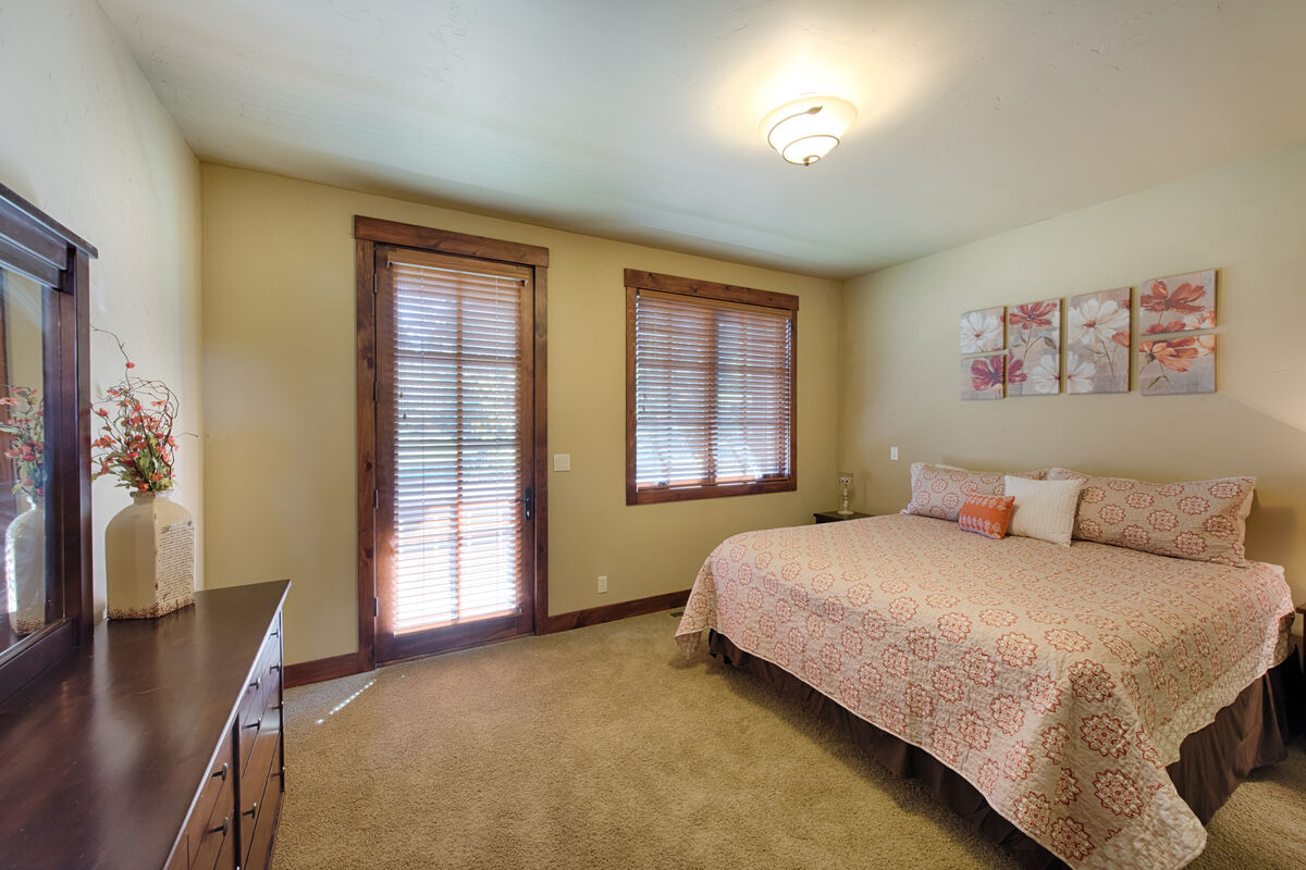 Master Suite with king bed and attached bath.