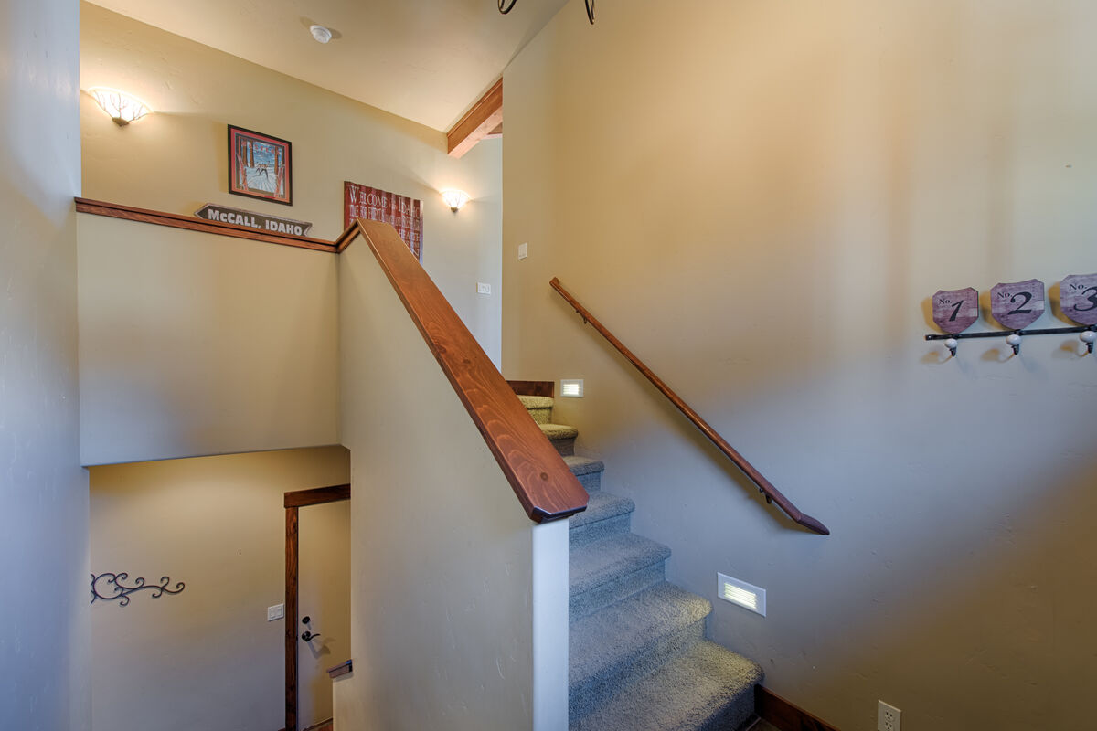 Stairwell to lower level.