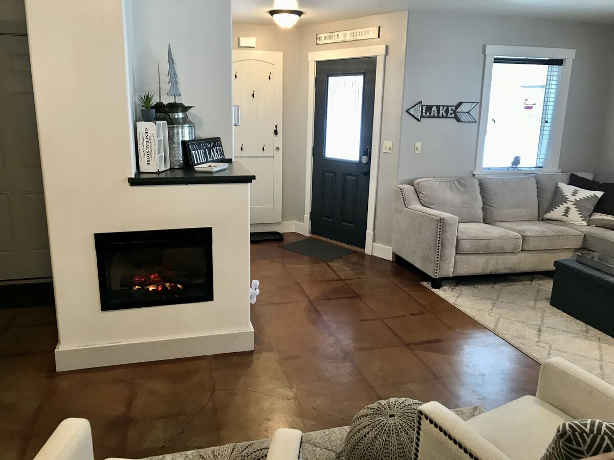 Electric Fireplace added Winter of 2020