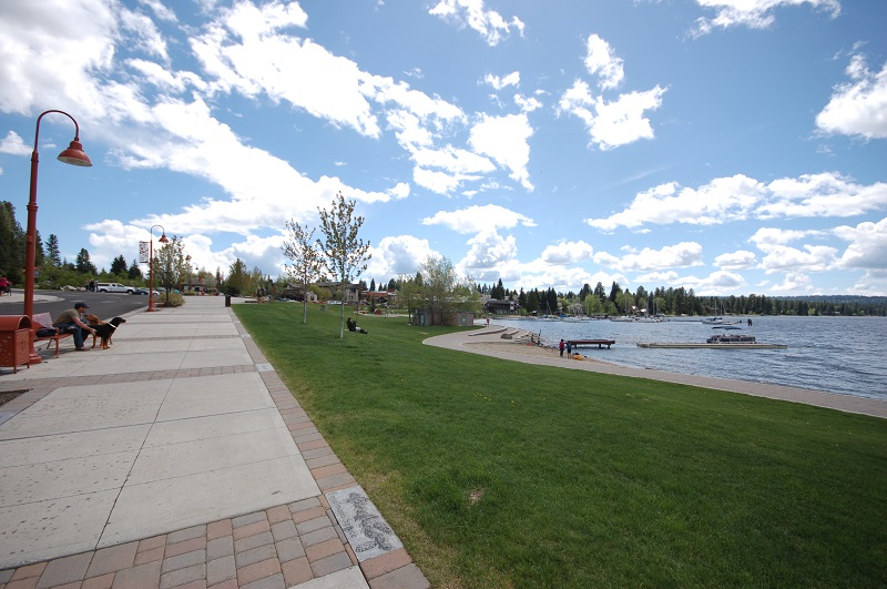 Legacy Park and Beach within 2 blocks