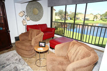 Living Room and Florida Room with view