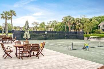Clay courts at the Racquet Club