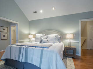Master bedroom on the 3rd. floor with king size bed