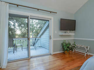 Sliding doors with deck to view the beautiful Marsh. Marsh views are forever changing.