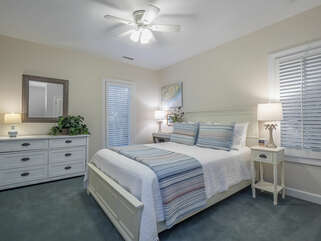 Guest bedroom on the the second floor with queen bed.