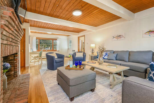 Two club chairs - perfect for intimate conversation - 2 Cove Road Harwich Cape Cod - New England Vacation Rentals