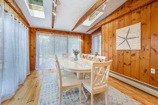 Dining area with skylights to let natural light in - 2 Cove Road Harwich Cape Cod - New England Vacation Rentals