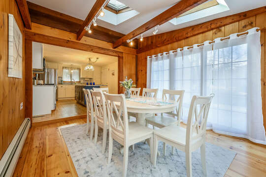 Plenty of seating at dining room table - 2 Cove Road Harwich Cape Cod - New England Vacation Rentals