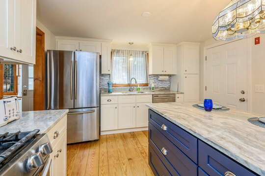 Stainless steel appliance in the kitchen - 2 Cove Road Harwich Cape Cod - New England Vacation Rentals