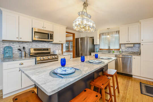Lots of cabinet storage - 2 Cove Road Harwich Cape Cod - New England Vacation Rentals